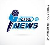 live reportage conceptual logo  ... | Shutterstock .eps vector #777145819