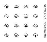 computer cloud icons. flat... | Shutterstock . vector #777146215