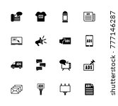 advertisement icons. flat... | Shutterstock . vector #777146287