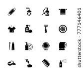 hygiene fight icons. flat... | Shutterstock . vector #777146401