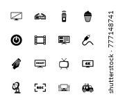 tv icons. flat simple icon  ... | Shutterstock . vector #777148741