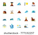 natural disaster icon set | Shutterstock .eps vector #777152257
