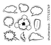 set of cartoon clouds and... | Shutterstock .eps vector #777153769