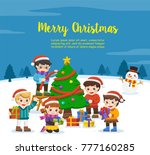happy new year and merry... | Shutterstock .eps vector #777160285