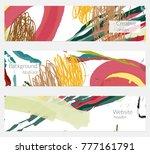 hand drawn creative universal... | Shutterstock .eps vector #777161791