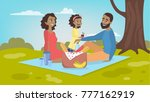 family at picnic. isolated... | Shutterstock .eps vector #777162919