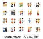national costumes icon set | Shutterstock .eps vector #777163489