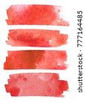 blood splatter set painted... | Shutterstock .eps vector #777164485