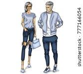 vector woman and man | Shutterstock .eps vector #777166054