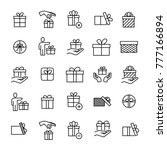 set of premium gift icons in... | Shutterstock .eps vector #777166894