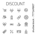 discount related vector icon... | Shutterstock .eps vector #777169807