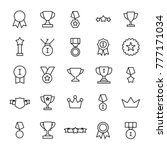 set of 25 award thin line icons.... | Shutterstock .eps vector #777171034