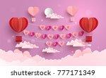 happy valentine day.... | Shutterstock .eps vector #777171349