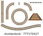 railway  a set of railroad... | Shutterstock .eps vector #777172417
