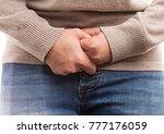 woman suffering menstrual pain... | Shutterstock . vector #777176059