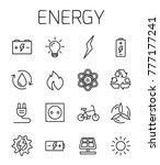 energy related vector icon set. ... | Shutterstock .eps vector #777177241