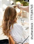 Making Hairstyle For Bride