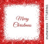merry christmas background with ... | Shutterstock .eps vector #777185461