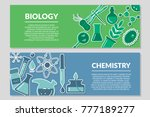banners on the theme of biology ... | Shutterstock .eps vector #777189277