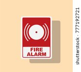 fire alarm icon  vector... | Shutterstock .eps vector #777192721