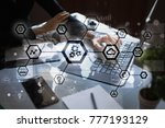iot  automation  industry 4.0.... | Shutterstock . vector #777193129