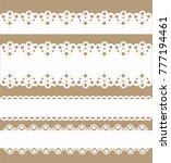 lace divider set vector | Shutterstock .eps vector #777194461