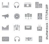 stereo icons. gray flat design. ... | Shutterstock .eps vector #777196189