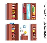 set of home dressing room... | Shutterstock .eps vector #777196624