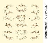 western hand drawn vintage... | Shutterstock .eps vector #777198037