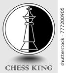 chess king icon in monochrome... | Shutterstock .eps vector #777200905
