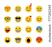 set of emoticons. expressions...