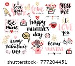 valentine s day calligraphic... | Shutterstock .eps vector #777204451