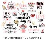 valentine s day calligraphic... | Shutterstock .eps vector #777204451