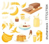banana set vector bananas... | Shutterstock .eps vector #777217504