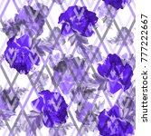 floral pattern ultra violet...   Shutterstock . vector #777222667