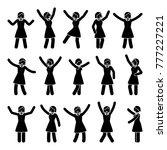 stick figure happiness  freedom ... | Shutterstock .eps vector #777227221