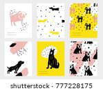 vector contemporary card set... | Shutterstock .eps vector #777228175