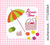 summer picnic doodle set on the ...   Shutterstock .eps vector #777230065