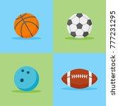 set of sports balls flat style... | Shutterstock .eps vector #777231295