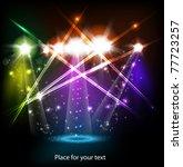banner neon light stage... | Shutterstock .eps vector #77723257