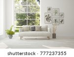 idea of white room with sofa... | Shutterstock . vector #777237355