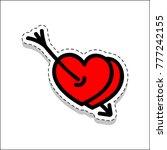 arrow  couple  hearts  love ... | Shutterstock .eps vector #777242155