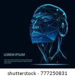 lines connected to thinkers ... | Shutterstock .eps vector #777250831