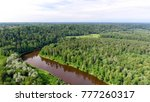 gauja national park aerial view.   Shutterstock . vector #777260317