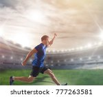 man athletics running | Shutterstock . vector #777263581