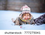 the little girls playing with... | Shutterstock . vector #777275041