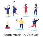 student characters showing... | Shutterstock .eps vector #777275989