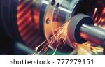 finishing metal working on high ... | Shutterstock . vector #777279151