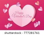 valentines day banner template... | Shutterstock .eps vector #777281761