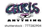 hipster funky t shirt  girls... | Shutterstock .eps vector #777282904